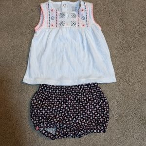 Carter's Just One You 2 Pc Girl Shorts Tank 18 mo